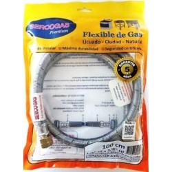 FLEXIBLE PARA GAS 1/2 X 3/8 IZQ. 1MT